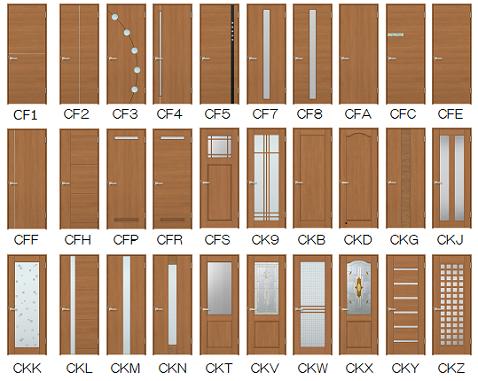 室内ドアウッディーラインデザイン一覧画像