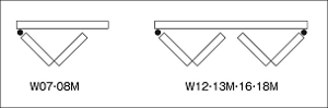 クローゼットドア、フリーピボット兼用の本体3方枠の説明画像