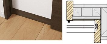 施工が楽になる小壁用幅木の説明画像
