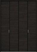 クローゼットドア折れ戸ファミリーラインCMEクリエダークの画像