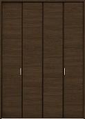 クローゼットドア折れ戸ファミリーラインCMEクリエモカの画像