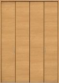 クローゼットドア折れ戸ファミリーラインCMEクリエペールの画像