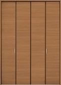 クローゼットドア折れ戸ファミリーラインCMEクリエラスクの画像