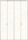 クローゼットドア折れ戸ファミリーラインCMEクリエホワイトの画像
