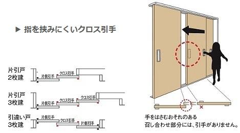 クロス引手の説明画像