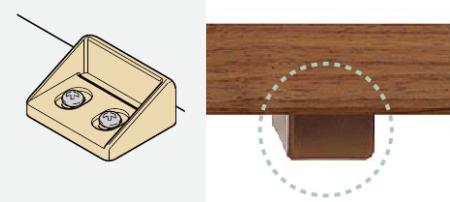 ファミリーライン両開き戸扉のバタツキを抑える戸当りの説明画像
