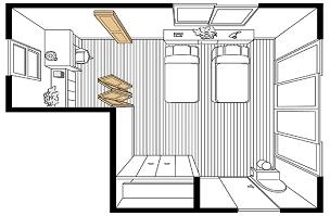 間仕切り戸使用例寝室