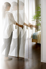 可動間仕切り戸上吊方式引戸のイメージ画像