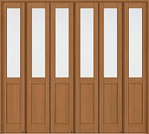 折れ戸タイプ間仕切り戸の画像