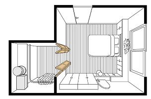 間仕切り戸使用例ウォークインクローゼット