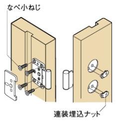 連装埋込ナットの説明画像