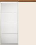 ウッディーラインクローゼットドア引戸アウトセットタイプの画像