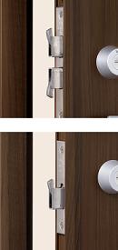 3つのデッドボルトの拡大画像
